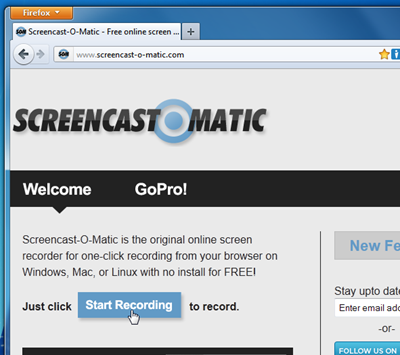 Screencast-O-Matic streaming video recorder