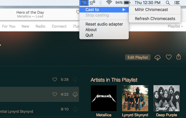 How to cast DRMed Apple music to Chromecast