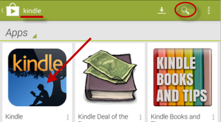 download Kindle ereader app from google play