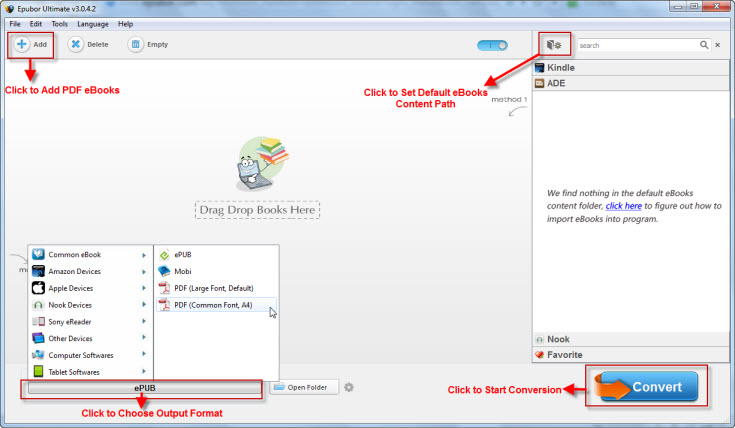 steps on converting DRM PDF ebooks