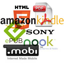 common ebook formats