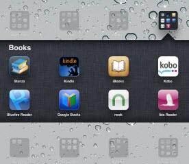 eBook reader apps on iPad