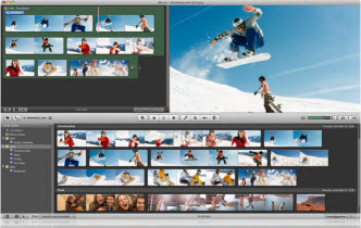 iMovie video editing application