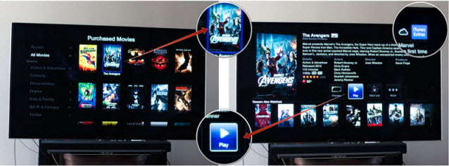 find itunes extras on Apple TV