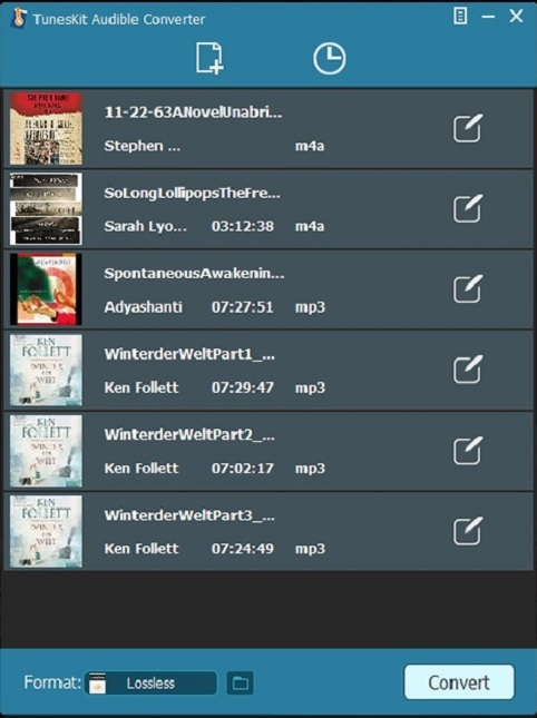 Add files to TunesKit Audible Converter