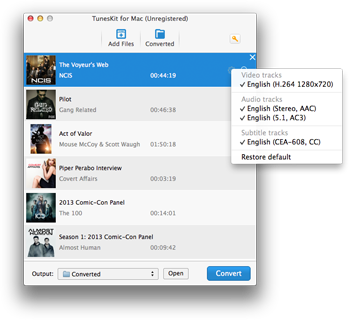 import itunes movies to Tuneskit