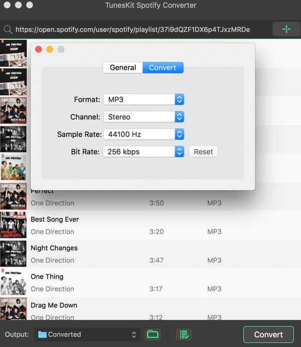 screenshots of TunesKit Spotify Music Converter for Mac